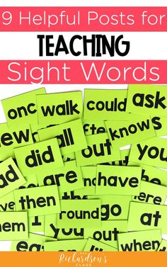 Boost your readers in kindergarten, first, and second grade with this teaching strategies for sight words. Plus, learn h Guided Reading Activities, Guided Reading Lessons, Sight Word Activities, Teaching Reading, Reading Groups, Reading Resources, Teacher Resources, Teaching Kids, Teaching Sight Words