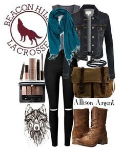 """""""Allison Argent"""" by catherinetabor ❤ liked on Polyvore featuring Elie Tahari, Timberland, DamnDog, LE3NO, Nordstrom, Phillip Gavriel, Laura Mercier and Guerlain"""