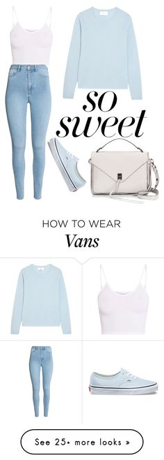 """Cotton Candy"" by the-author-isnt-dead on Polyvore featuring BasicGrey, Allude, Rebecca Minkoff, Vans and pastelsweaters"