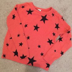 Star sweater from F21. Size small. Super cute! Worn a few times. Super bright and cute. Size small. Forever 21 Sweaters Crew & Scoop Necks