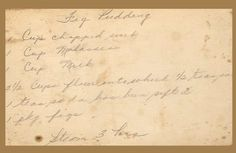 for a real Olde fashioned Christmas Old New England Recipes: Old-Fashioned Figgy Pudding Recipe with sauce