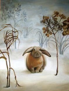 Lapin.  Illustration intitulée «Brouillard».