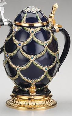 Faberge Egg beer stein!  Great article on modern Faberge.