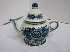 Royal Delfts Blau Handwerk Teekanne Kaffeekanne handgemalt True Vintage