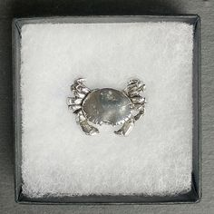 Crab Brooch Pin / Cancer Zodiac / Star sign / Silver / lover /