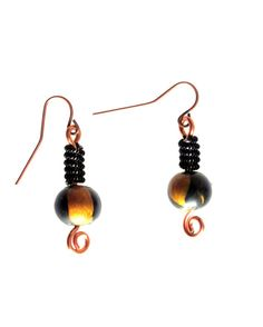 Ten Dollar Sale!  Black and Gold Clay Bead Wire Wrapped by SarahsArtisanJewelry, $10.00