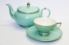 Teapot #132 - Christiana Vintage in Teal.