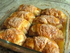 Country Apple Dumplings from Crescent Rolls: Butter with a Side of Bread Many more here............. http://www.butterwithasideofbread.com/2012/07/country-apple-dumplings.html