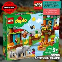 LEGO 10906 Tropical Island DUPLO Mainan Anak Hewan Gajah Kera Original #thekingbricks #theking #thekingid #kingbricks #gvonline #uhappyihappy #tokolegoterpercaya #tokomainanoriginal #lego10906 Lego Duplo Sets, Lego Duplo Zoo, Lego Duplo Animals, Lego Ninjago, Bebe 1 An, Baby Elefant, Educational Toys For Toddlers, Lego Construction, Baby Jogger
