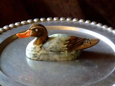 Great Duck with feathers of brown tan gray by MissPattisAttic, $6.00
