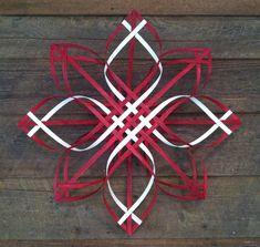 Scandinavian - Swedish - Advent star woven reed Christmas wreath, Appalachian snowflake, extra large, scarlet on Etsy, $40.00