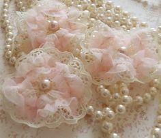 lace, beads, sheer ribbons....