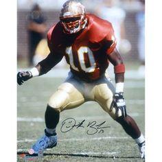 Derrick Brooks Florida State Seminoles Autographed 16'' x 20'' Stance Photograph