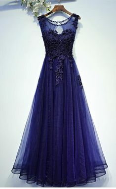352862ae6d6 Charming Navy Blue Long Tulle Prom Dress, Long Prom Dresses, Woman Evening  Dress,. Luulla