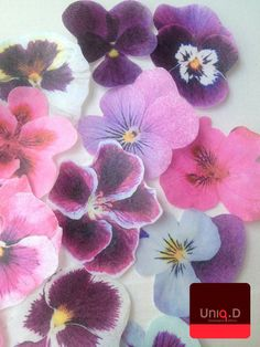 30 edible pansy flowers  edible blush cupcake by uniqdots on Etsy, $24.00
