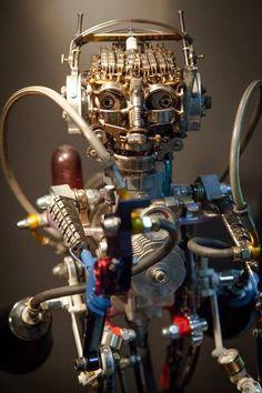 Ferrerini mechanical art jet man