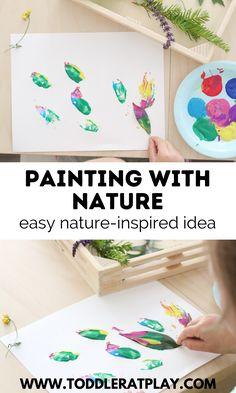 Nature Based Preschool, Preschool Science Activities, Creative Activities For Kids, Outdoor Activities For Kids, Nature Activities, Toddler Learning Activities, Creative Play, Infant Activities, Play Activity