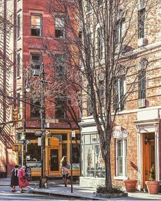 Sunshine and early spring in New York! A beautiful day in the West Village!
