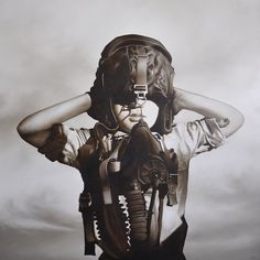 'Fighter Pilot # 2', 2011. Oil on linen by Michael Peck