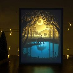 Papercut Light Boxes Shadow Box Led Night Lamp Decorative Mood For Kids And Adults Baby Nursery Bedroom Living Room LightMy Friend