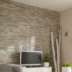 Plaquette de parement el gance en pierre naturelle beige - Faux parquet leroy merlin ...