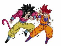 Goku ssj4 vs ssj dios