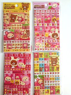 Rilakkuma stickers , new rilakkuma , cute 3d stickers , colorfull stickers , kids stuff , kawaii stickers