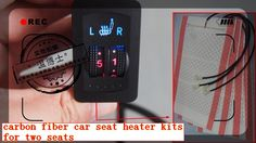 free shipping carbn fiber dual dial car seat heater pads,car seat heating pads for two seats,