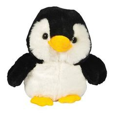 Freddy penguin may be small in stature, but he is big on fun! Measuring 7 inches tall, Freddy is made of a silky soft plush black and white fabric, with the classic orange and yellow beak and feet acc