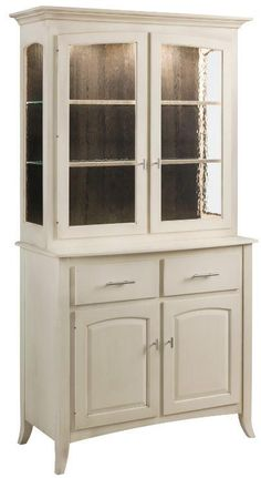 Amish Manchester Two Door Full Length Hutch - Keystone Collection