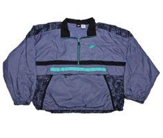 f9b0d0c67 Vintage 90s Nike Purple Black Teal Windbreaker Jacket Mens Size XL  50.00