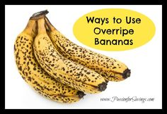 Don't throw out those overripe bananas! Check out all of these ways you can use them up! #moneysavingtip