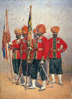15th Ludhiana Sikhs Colour Party, 1908 (c)