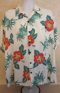 1d718e28 TORI RICHARDS Men's Hawaiian Shirt Rayon Pineapple Hibiscus Floral XXL
