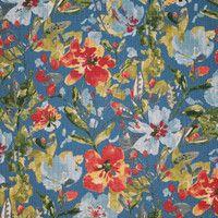 Swavelle Fabrics Tropix Polyester Oakmont Sapphire   Drapery