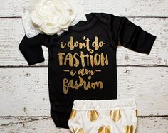 Baby Girl Clothes Baby Christmas Gift I Woke by ShopVivaLaGlitter