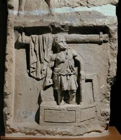 Tomb relief of a cloth merchant.