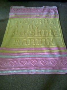 Free Crochet Pattern For You Are My Sunshine Blanket : You are my sunshine blanket fibers Pinterest My ...