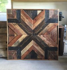 This was custom made to fill space above a stairway. Dimensions are about 40x40x3 but can be customized to fit your needs. (pricing may vary) Free Shipping! F