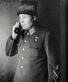Original caption: This is a new picture, just received on the Clipper, of Marshal S.K. Timoshenko, Commander-In-Chief of the South Western Direction, and hero of the Soviet Union. Marshal Timoshenko's masterly offensive against the Nazis around Kharkov has prevented them from throwing even greater forces into the fight for Sevastopol, where Red Army men and women are putting up such strong resistance.