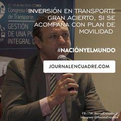 Revista Encuadre » Inversión en transporte gran acierto, si se acompaña con plan de movilidad