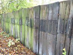 Railway Sleeper Wall