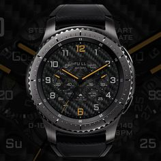 We are making the watch face of Samsung gear. Thank you for coming! Android Watch Faces, Samsung Gear S3 Frontier, Wearable Device, Interesting Faces, Watches For Men, Men's Watches, Luxury Watches, Omega Watch, Smart Watch