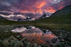 """Three Sisters - Suset in Norway, still had to hike pathless 10km through the night after this shot <a href=""""http://instagram.com/kilianschoenberger/"""">@kilianschoenberger I N S T A G R A M</a>  <a href=""""https://www.facebook.com/pages/Landscape-Photography-by-Kilian-Schoenberger/304631876263547"""">L A N D S C A P E   P H O T O G R A P H Y facebook</a>"""