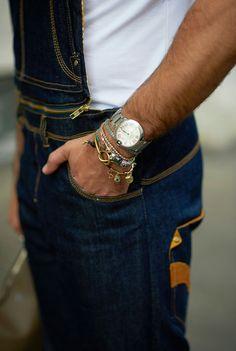 Pulseiras masculinas Street fashion, street style, street fashion, style, fashion, mode, moda, street chic, look, outfit, men, cool hunting, Kadu Dantas