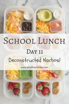 School Lunch day 11: Deconstructed Nachos — What Lisa Cooks