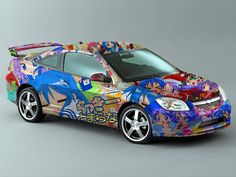 Car w/ lucky star pics on it