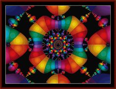 FR-128 - Fractal 128 - All cross stitch patterns - Abstract - Fractals - Graphic Art - - Whimsical - Cross Stitch Collectibles