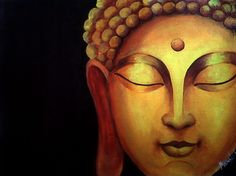Buddha (acrylic on canvas) -meera latkar