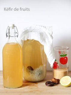 My homemade fruit kefir Juice Drinks, Healthy Drinks, Healthy Food, Water Kefir, Best Fruits, Protein Foods, Cooking Time, Natural, Vegan Recipes